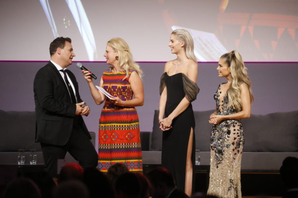 Guido Maria Kretschmer, Lena Gercke, Barbara Schöneberger, Sylvie Meis 13. dreamball im WECC Westhafen Event & Convention Center in Berlin am 19.09.2018. Agency People Image (c) Jessica Kassner   *WARNING* STRICTLY NO FAN WEBSITE / NO BLOG / NO FACEBOOK / NO INSTAGRAM / NO SOCIAL WEB USE!  ALL RIGHTS RESERVED!